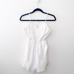 Love Culture White Open Back Playsuit Romper